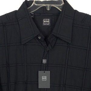 IKE BAHAR Men's Button Down Textured Shirt XXL